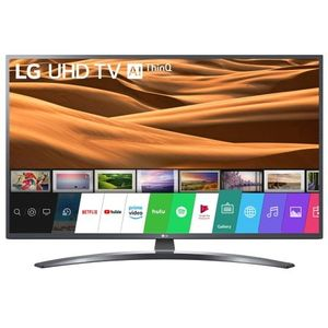 Televizor LED Smart LG 49UM7400PLB, Diagonala 123 cm, 4K Ultra HD, HDR, webOS, True Color Accuracy, Ultra Surround, Clasa A, Gri