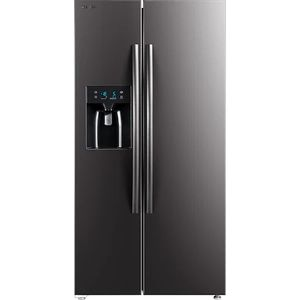 Side by side Toshiba GR-RS660WE-PMJ, 516l, Clasa E, No Frost, Control touch, Dual inverter, Ice Maker 3 in 1, Iluminare ECO-LED, Antracit